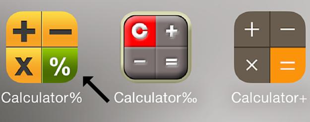 Hidden text app calculator